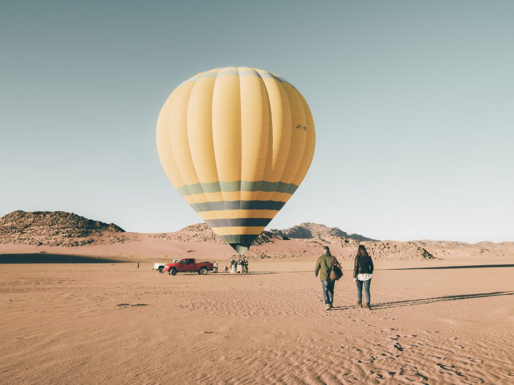 JORDAN DIARIES: BALLOON FLIGHT OVER THE WADI RUM DESERT